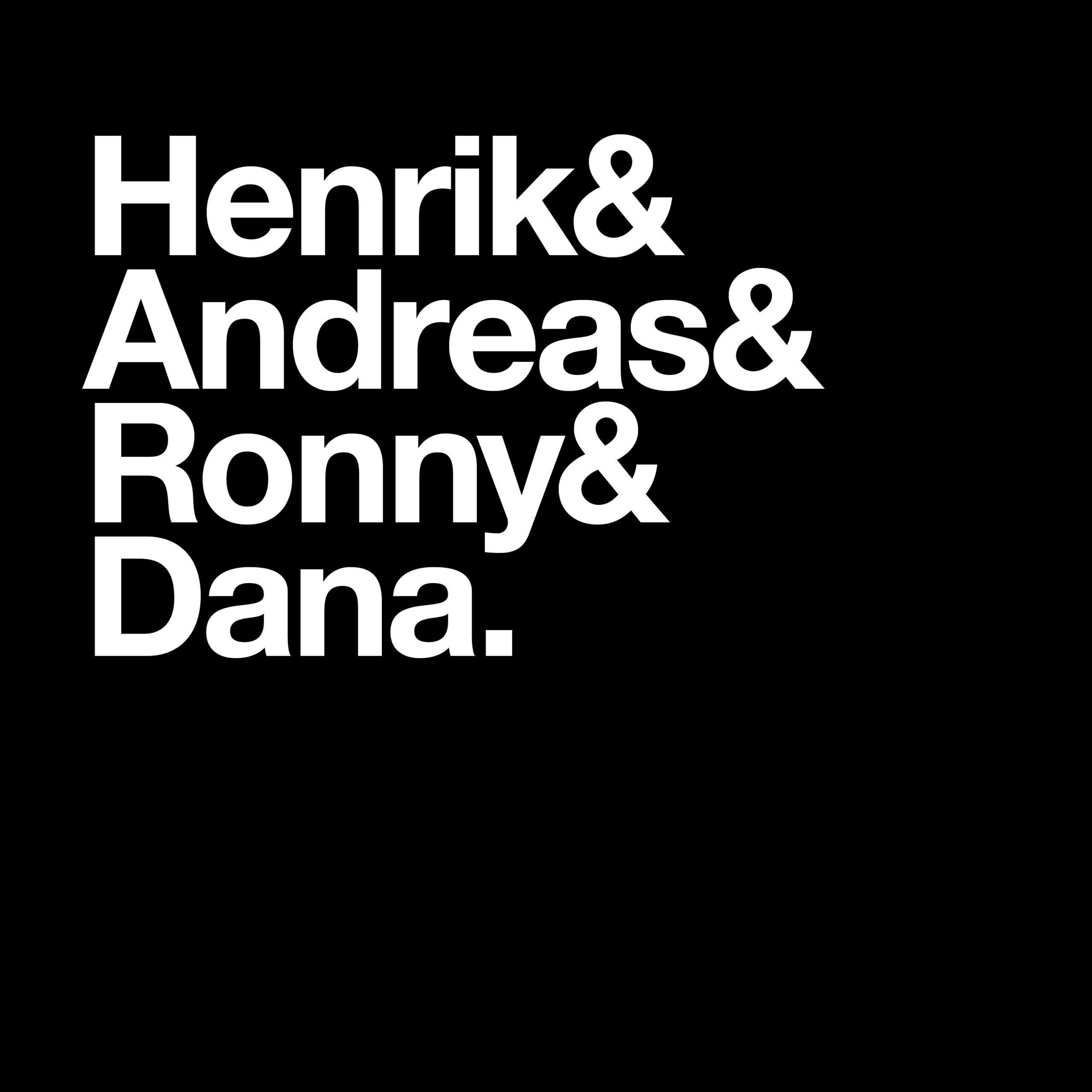 Henrik, Andreas, Ronny och Dana